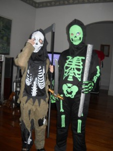Zombie Skeleton and Glow in the Dark Skeleton