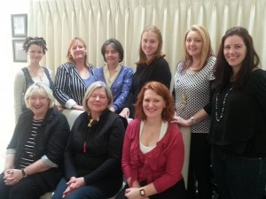 The Melbourne based Destineers - (back row from left, Madeline Ash, Sasha Cottman, Mary Costello, Edwina Jagleman, Emmie Dark, Sarah Fairhall, front row from left, Carol George, Louise Reynolds and me - missing from photo Elise K Ackers and Nicole Hadow.)