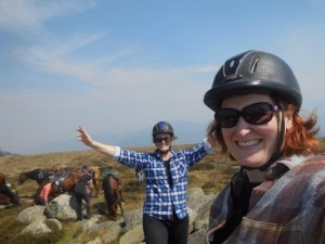 Me and my sis on Mt Stirling